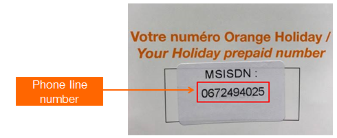 Orange Holiday SIM Phone Number